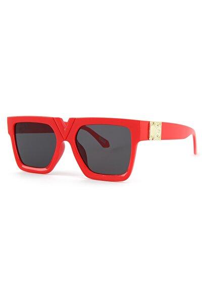 V Tasarım Kırmızı Kadın Güneş Gözlüğü Apss038202