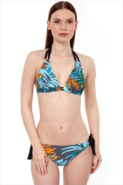 Kadın Sarı Üçgen Kesimli Bikini Takımı 40710