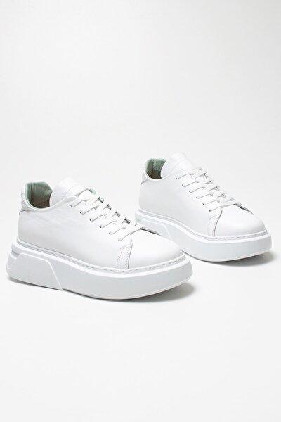 Kadın Beyaz Hakiki Deri Sneaker