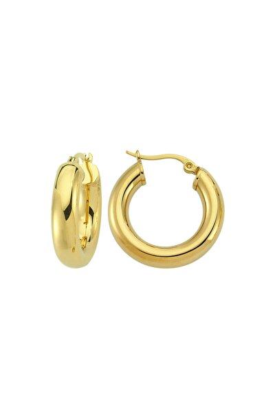 Round Hoop Earring - Gold