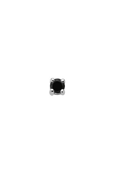 0,12 Karat Siyah Pırlanta Tektaş Erkek Küpesi