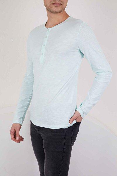 Mint Yeşil Basic Uzun Kollu Tshirt