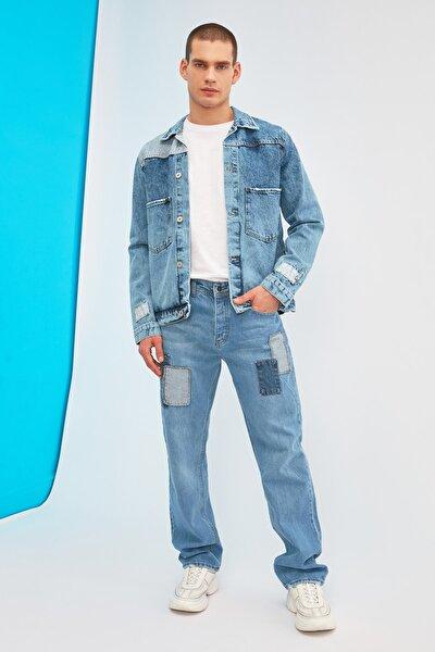 Mavi Erkek Yamalı Regular Fit Jeans TMNSS21JE0368
