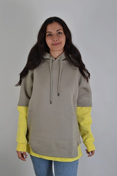 Kadın Gri Oversize Sweatshirt