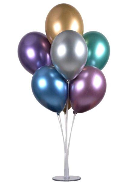 Ayaklı Balon Standı 7'li Renkli Çubuk Başlık