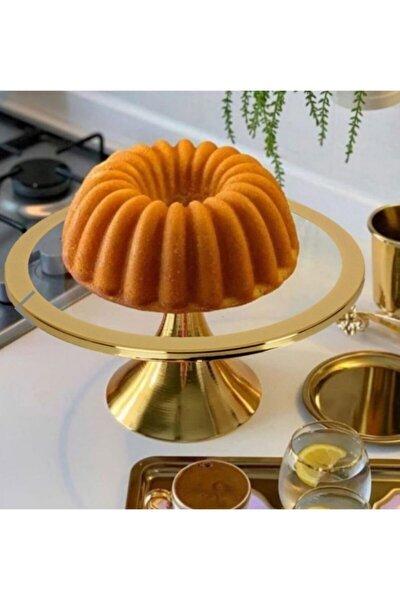 Gold Ayaklı Kek Ve Pasta Standı 30cm
