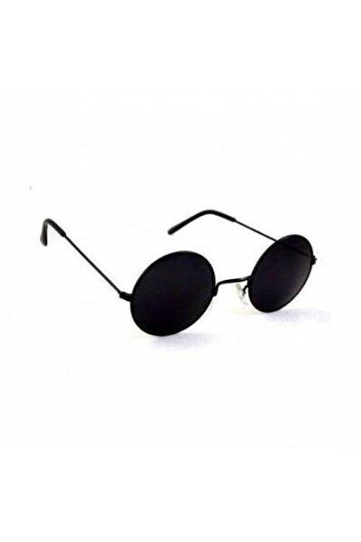 Unisex Siyah Yuvarlak 4.5 cm Güneş Gözlügü