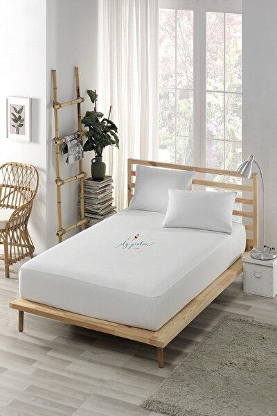 Sıvı Geçirmez Alez Yatak Koruyucu Yatak Saran Çarşaflı Fitted Pamuklu (tüm Ebatlar)