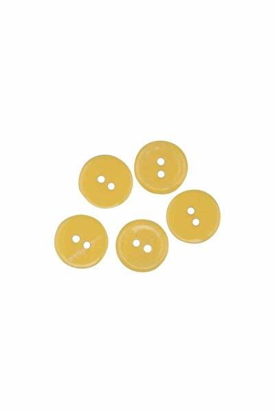 Düğme 5 Adet 14 Mm | Sarı