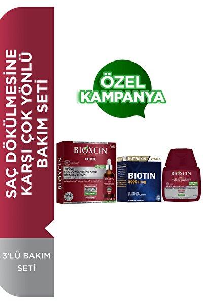 Forte Serum 3'lü Bakım Seti Saç Dökülmesine Karşı Çok Yönlü Bakım Seti Serum+şampuan+biotin