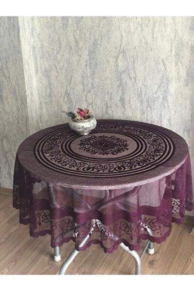 Osmanlı Desen Yuvarlak Masa Örtüsü