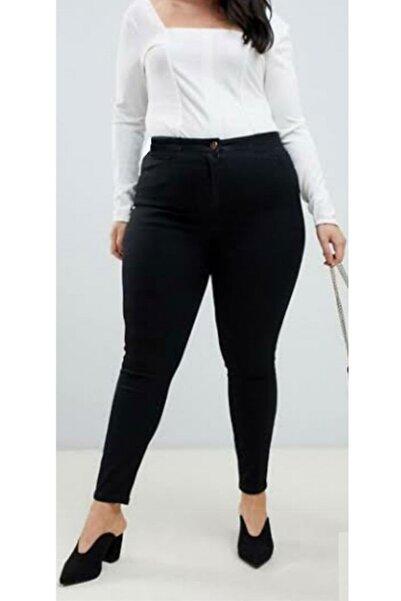 Kadın Siyah Yüksek Bel Dar Paça Kot Pantolon