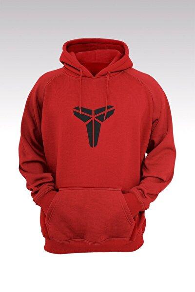 Kobe Bryant 83 Kırmızı Kapşonlu Sweatshirt - Hoodie