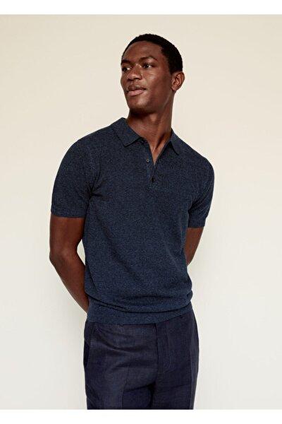 Pamuk-keten Karışımlı Polo Yaka T-Shirt