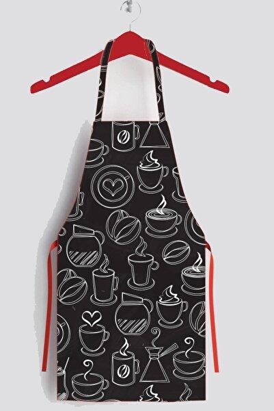 Siyah Coffee Leke Tutmaz Mutfak Önlüğü