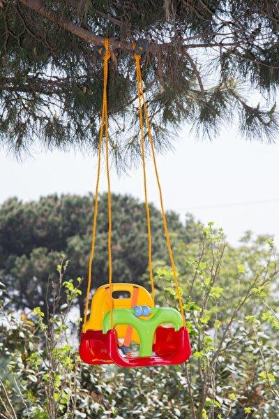 Saban Kırmızı Ev,bahçe ( Balkon Vs ) Korumalı Çocuk Salıncağı