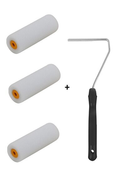 10 Cm Sünger Rulo 3 Adet + Sap
