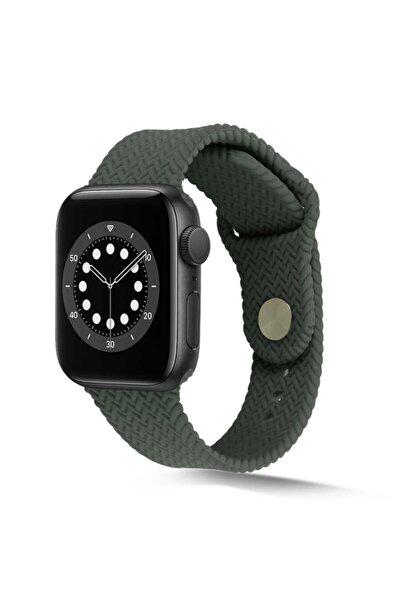 Watch 5 Silikon Kordon Hasır Örgü Görünümlü Şık Tasarımlı 44mm Krd-37