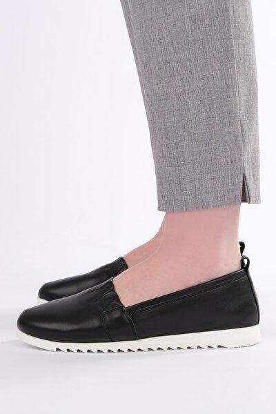 Kadın Siyah Hakiki Deri Comfort Ayakkabı