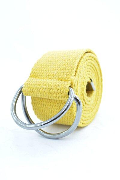 Unisex Demir Tokalı Ayarlanabilir Kemer 4cm Sarı