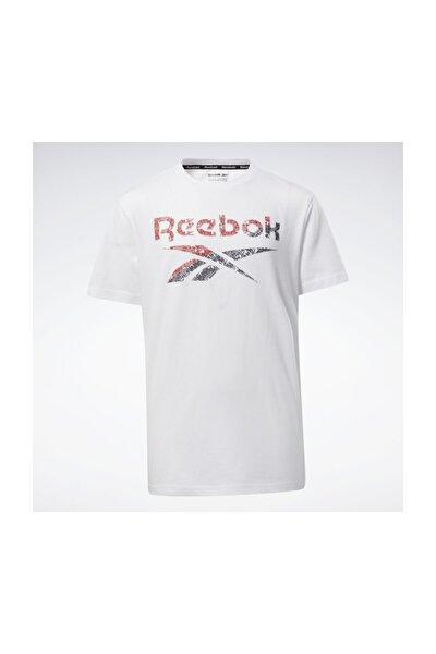 Erkek  Yetişkin Spor T-Shirt BIG INTL TEE        WHITE EW8542