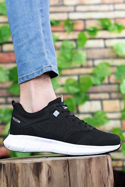 Siyah Beyaz Erkek Sneaker 0012075