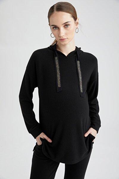 Kadın Hamile Kapüşonlu Sweatshirt T8424AZ21SP