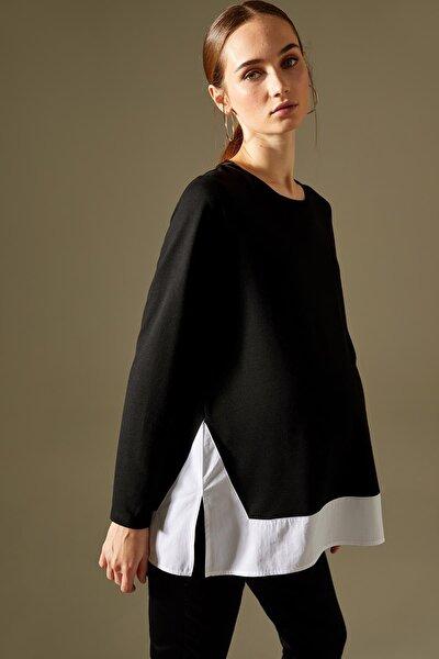Kadın Hamile Renk Bloklu Sweatshirt T9701AZ21SP