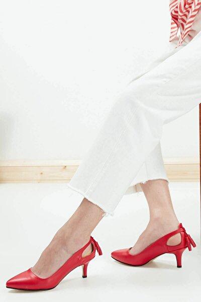 Kırmızı Kadın Topuklu Ayakkabı 009037RE