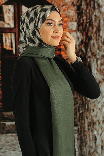 Kadın  Desenli Pamuk Şal - Tmeds-068