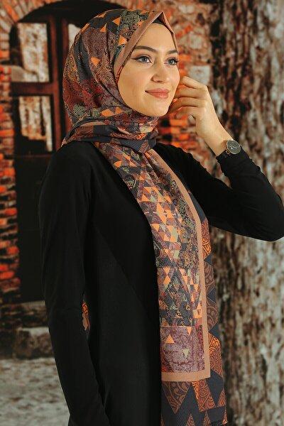 Kadın  Desenli Pamuk Şal - Tmeds-011