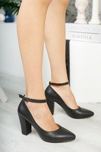 Siyah Kadın Klasik Topuklu Ayakkabı DPRGZHWY705