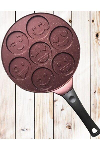 Daisy Emoji Döküm Bordo Krep & Pankek Tavası 28 Cm