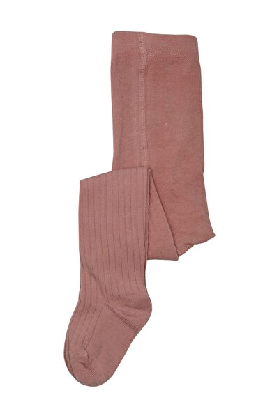 Gül Kurusu Desensiz Bebek Külotlu Çorabı