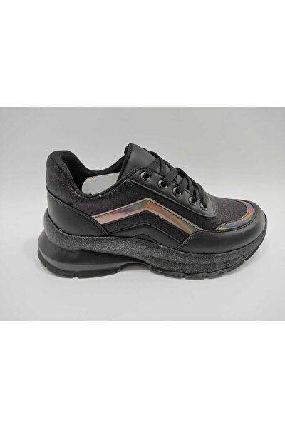 Kadın Siyah Ortopedik Spor Ayakkabı