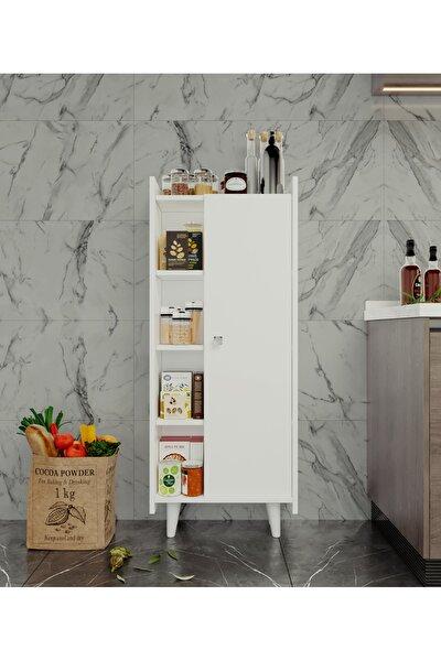 Çok Amaçlı Dolap Modern Banyo Kitaplık Mutfak Kiler Dolabı Beyaz