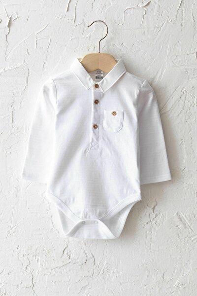 Erkek Bebek Optik Beyaz Ffb Bebek Body & Zıbın