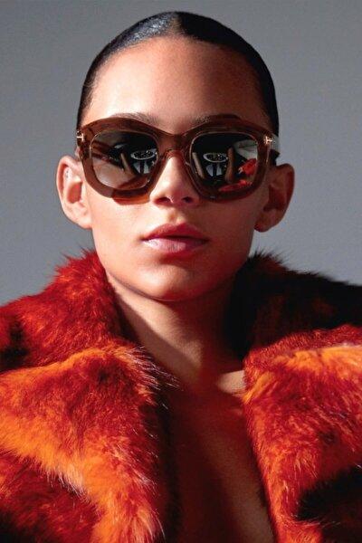 Julia Büyük Yuvarlak Güneş Gözlüğü Kahverengi