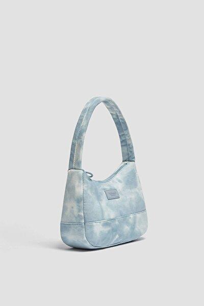 Kadın Mavi Batik Desenli Kol Çantası 14155740