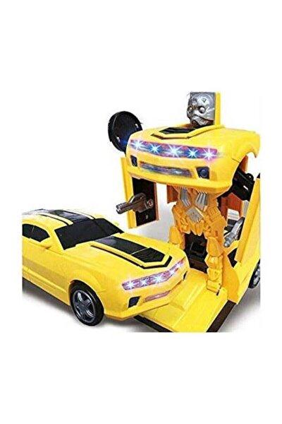 Transformens Bumblebee Araba Transformers Robota Dönüşen Pilli Işıklı Sesli Oyuncak