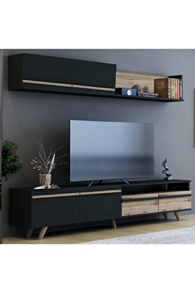 Mono Antrasit Çırağan Tv Ünitesi 180 cm