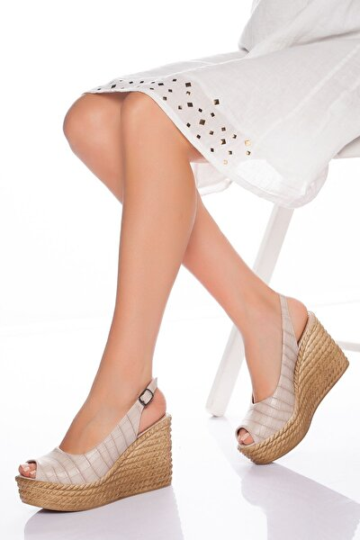 Lewis Dolgu Topuklu Ayakkabı-ten-lzt0535