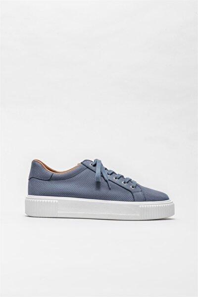 Erkek Mavi Deri Günlük Ayakkabı