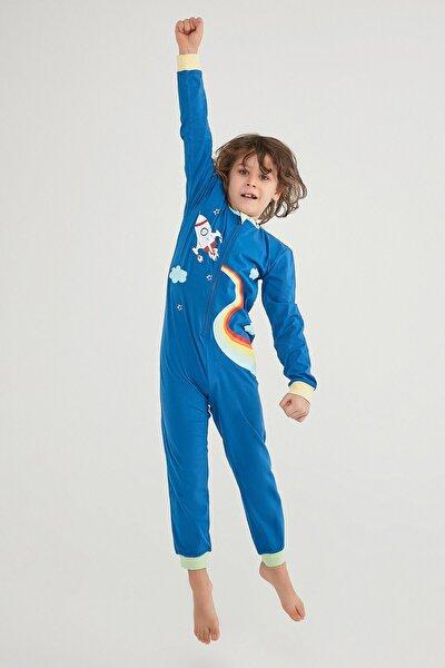 Erkek Çocuk Colorful Rocket Tulum