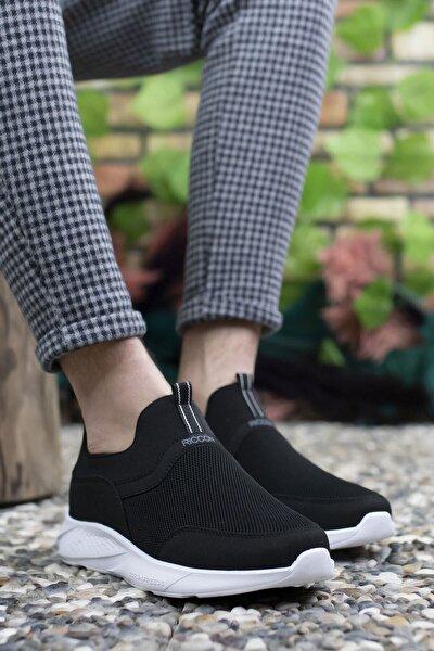 Erkek Siyah Beyaz Sneaker 0012102