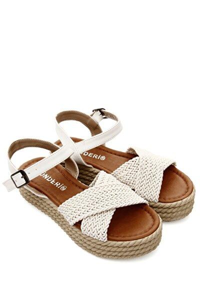 Beyaz Kadın Sandalet 40853