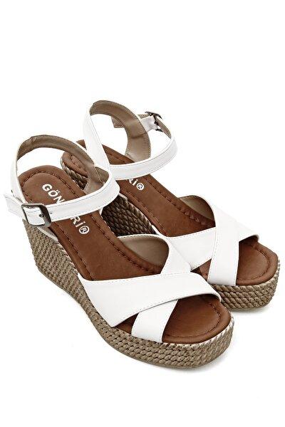 Gönderi® Kadın Bilek Bağlı Dolgu Taban Sandalet 40533