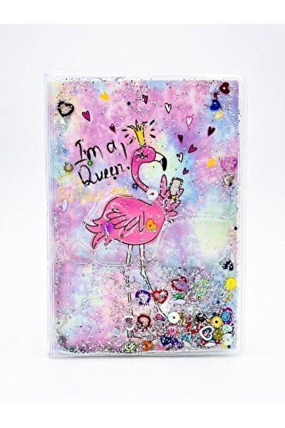 Flamingo Simli Ve Sulu Kapaklı Rengarenk Sayfalı Mini Defter