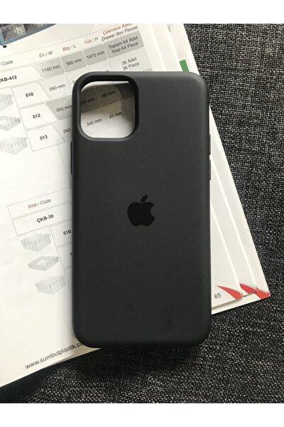 Iphone 11 Pro Logolu Lansman Içi Kadife Silikon Kılıf