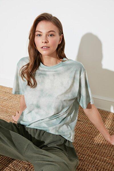 Mint Batik Boyfriend Örme T-Shirt TWOSS21TS2337